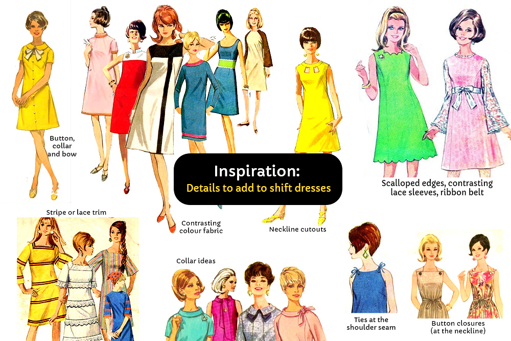 Inspiration: Details to add to shift dresses (60s sewing patterns ...
